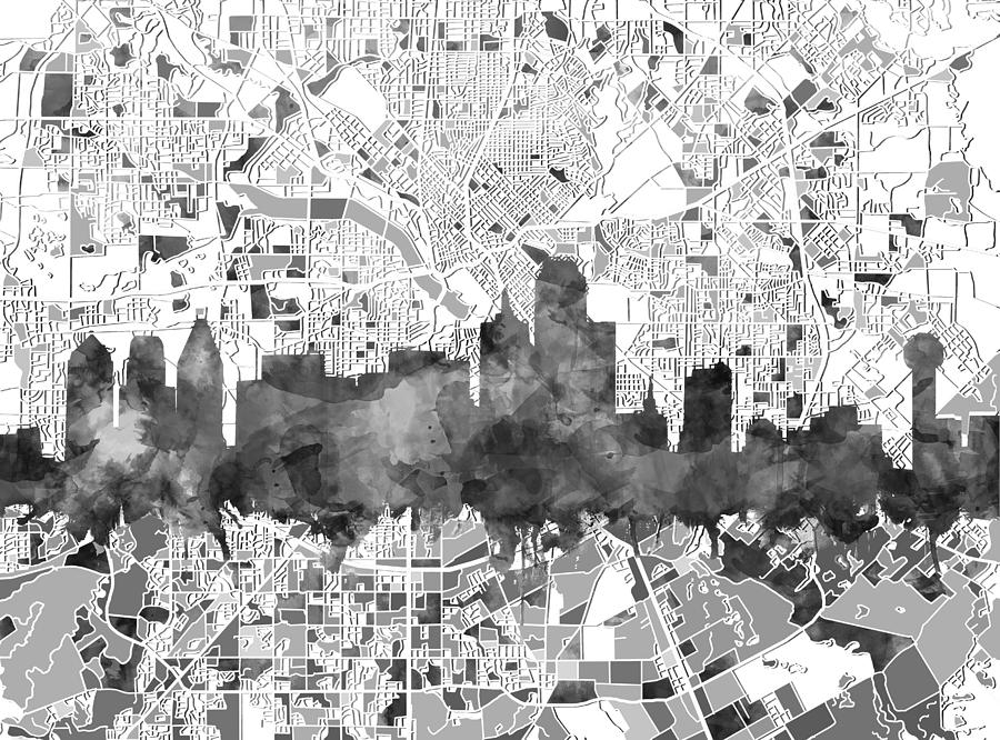 dallas-skyline-map-black-and-white-mb-art-factory